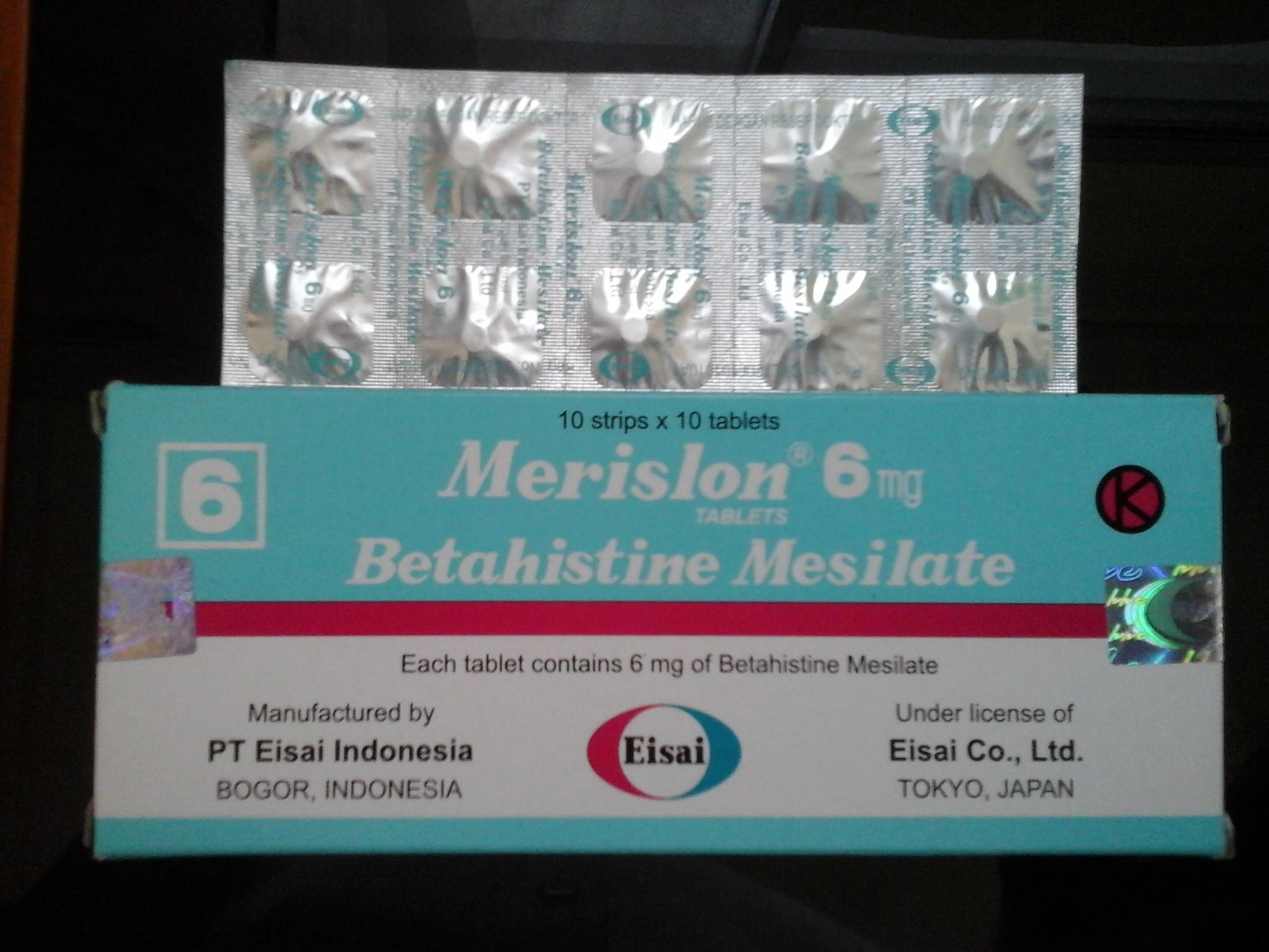 Obat Merislon | Betahistine Mesilate